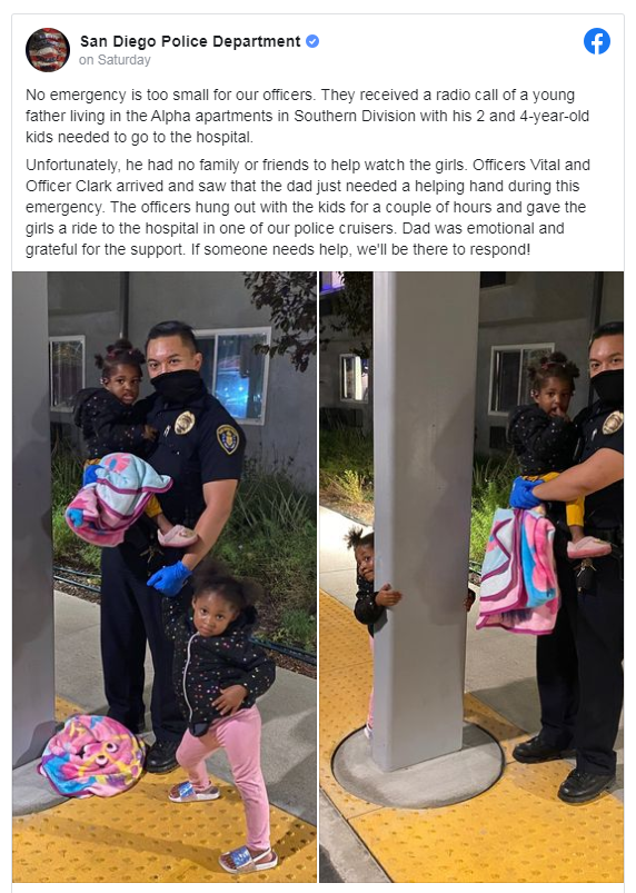 10 News Officers Babysit After Father Hospitalized